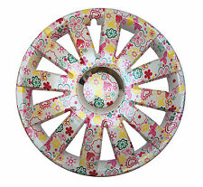 "16"" Wheel trims for VW Volkswagen Crafter T5 4x16"" uniqe flowers pattern pink"