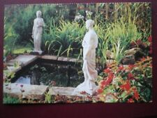 POSTCARD SMALL GARDEN POND WITH STATUES