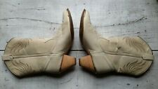 Dingo Cameo Shangra-La Western Style Ivory Cowgirl Boots #7373 Women's Size 6M