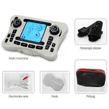 Electrical Muscle Relax Massager Stimulator  Massager Tens Pulse +Slipper Set US