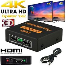2160p 1 IN 2 OUT 1 INPUT 2 OUTPUT HDMI SPLITTER 2 WAY SWITCH BOX HUB 4K UHD 3D
