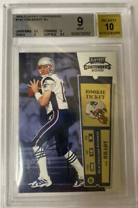 2000 Playoff Contenders Tom Brady ROOKIE RC AUTO #144 BGS 9/10 almost GEM MINT