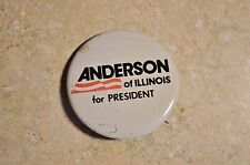 """Anderson of Illinois for President 1980 Presidential Campaign Button Pin 2-1/4"""""""