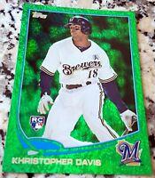 KHRIS DAVIS 2013 Topps GREEN SP Rookie Card RC Logo Oakland A's 42 HRs 102 RBIs