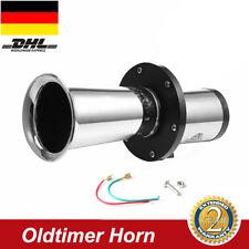 110dB 12V Oldtimerhorn Oldtimer Horn Waltons Fanfare Signalhorn Chrom Retro Hupe