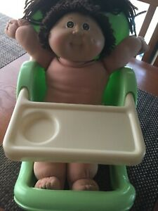 Cabbage Patch Kids Little Miss Rainbow Doll Feeding Booster Seat Table Chair