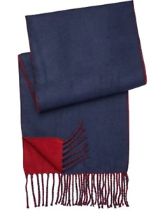 pront uomo reversible scarf   navy&burgundy, Back&gray