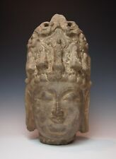 MING DYNASTY CHINESE STONE GUANYIN STATUE Museum Quality Antique Carved Kwan Yin