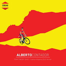 "012 ALBERTO CONTADOR - Spain Bicycle Race Champion 14""x14"" Poster"