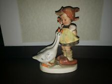 Goebel Hummel Goose Girl 47 Tmk2 Full Bee With Tmk1 Crown Incised