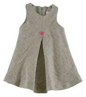4 Years NWT $76 JACADI Girl/'s Aliquot Navy Blue Short Sleeved Velvet Dress Age