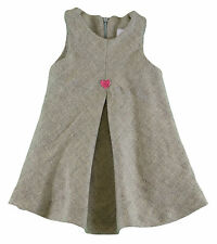 JACADI Girl's Aspic China Gray Dress With Heart Detail Age: 6 Months NWT $68