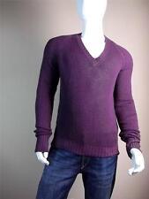 $1095 Yves Saint Laurent Cashmere Burgundy Sweater XL Knit Purple YSL Cardigan