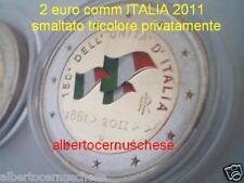 2 euro 2011 ITALIA fdc color farbe farbig 150 anni italie italy italien Италия