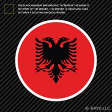 Round Albanian Flag Sticker Die Cut Decal Self Adhesive Vinyl Albania ALB AL