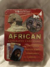 WorldWise Geography Card Game - African Edition 2009 Edition In Tin Case 8+ Rare