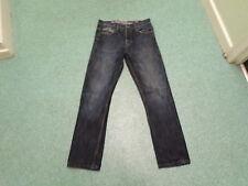 "Crosshatch New King Jeans Waist 30"" Leg 30"" Faded Dark Blue Mens Jeans"