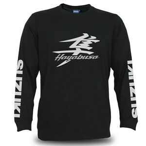 Genuine Suzuki Hayabusa Bike Racing Motorcycle SBK Black Long Sleeve Men T-Shirt