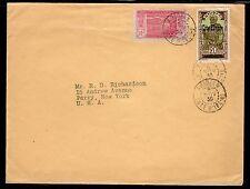 Ivory Coast Abidjan to US 1930 a284