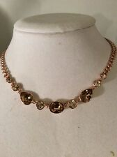 $88 Givenchy Rose Gold Frontal Necklace # 309 GN