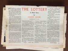 f1b ephemera 1951 short story the lottery gilbert moore