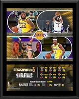 """Los Angeles Lakers 12"""" x 15"""" 2020 NBA Finals Champions Team Sublimated Plaque"""