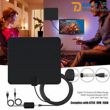 Digital TV Antenna 50 Miles Range 1080P Amplified Booster HDTV UHF VHF FM TVfox