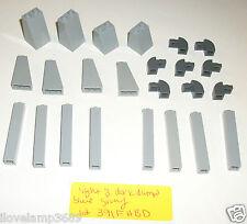 LEGO Column Support Pillar Wall Element Slope 1x1x5 Brick 2453 4460 10224 9468