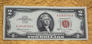 $2.00 Series 1963  UNC Uncirculated-Clean-Very Nice