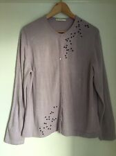 M&S Cardigan Size 18 Lilac Soft Beaded Washable Cardigan.