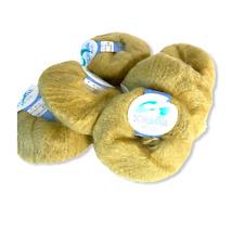 New listing Schulana Switzerland Mohair Silk Yarn 6 Skeins (Donut Balls) Celadon
