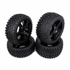 4pcs 5 spoke Front Rear Wheel Rim Tire RC Car 1/10 Off-road For Buggy US Shippin