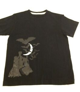 OLD NAVY T SHIRT BLACK HALLOWEEN CASTLE BATS MOON SIZE S