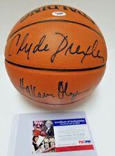 Olajuwon/Drexler/Barkley Signed Official Game Basketball PSA/DNA HOF D03359