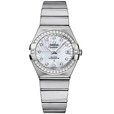 NEW Omega Constellation Diamond Mother of Pearl Ladies Watch 12315272055001 BUY!