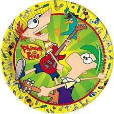 Phineas and Ferb Birthday Party Celebration Paper Plates 20 cm 8 Plates
