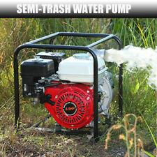 65 Hp 2 Gas Power 140gpm Semi Trash Water Pump High Pressure Garden Irrigation