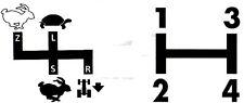 Aufkleber Label Sticker für Deutz Schaltschema D6806 Baureihe (9+15)