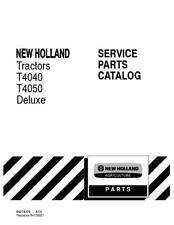 NEW HOLLAND T4040,T4050 DELUXE TRACTORS PARTS CATALOG