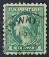 U.S. Used #424 1c Washington, Superb. Lovely 1922 CDS Cancel. A Gem!