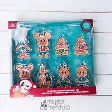 New 2020 Disney Christmas Gingerbread Mickey Minnie Donald Chip Ornament Set