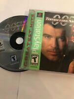007 Tomorrow Never Dies PS1 Video Games Greatest Hits Tested Cleaned Free Ship