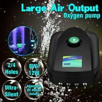 Réservoir de poissons d'aquarium Compresseur de pompe à air ultra silencieux D