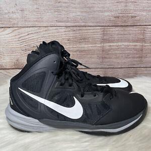 Nike Prime Hype DF Basketball Shoes 683705-002 Black/White/Grey Men's Size 13