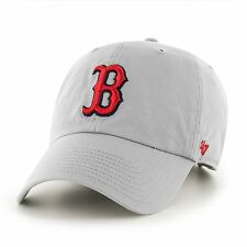 Boston Red Sox '47 Brand MLB Grey Storm Clean Up Adjustable Cap