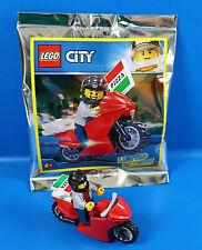 LEGO® City Limited Edition 951909 Figur Ben als Pizzabote  mit Motorrad