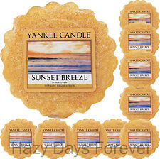 10 YANKEE CANDLE WAX TARTS Sunset Breeze  MELTS fresh scented