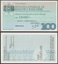 MINIASSEGNO 100 LIRE ICBB 15/2/1977 MILANO X BANCA C.STEINHAUSLIN & C.