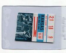 NEBRASKA CORNHUSKERS v KANSAS - November 6th 1965 Ticket Stub - TOM OSBORNE