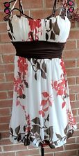 Speechless Formal Dress S White Brown Red Spaghetti Strap Prom Party